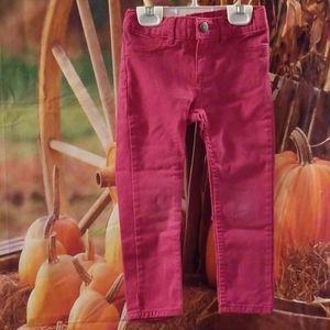 Size 4T OshKosh Pink Jeans, Adjustable Waist